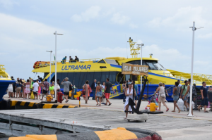Ultramar is the main provider of continuous fast ferry service to and from Isla Mujeres.