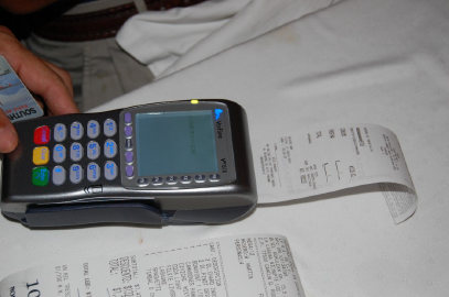 Leave debit cards at home and have the waiter bring you the charge machine to your table when you eat out.